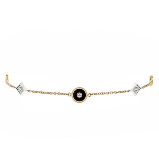 18k Enamel Diamond Bracelet
