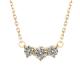 Three stone diamond necklace
