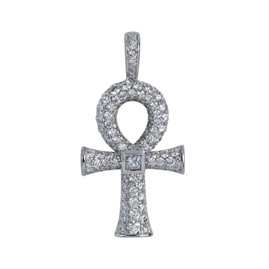 Diamond Ankh Egyptian Cross Pendant