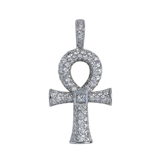 Diamond Ankh Egyptian Cross Pendant