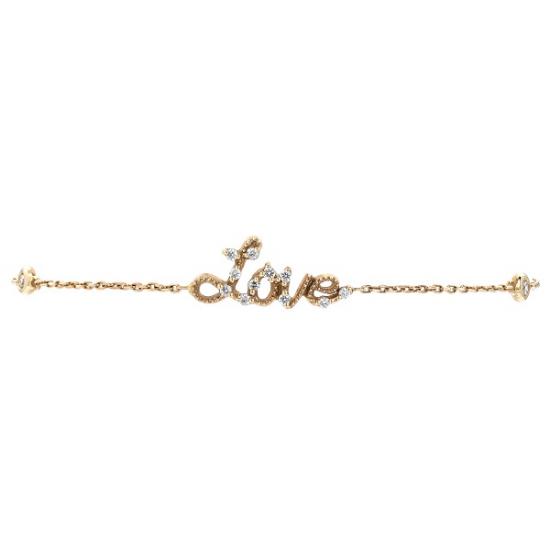 18k Love Diamond Bracelet