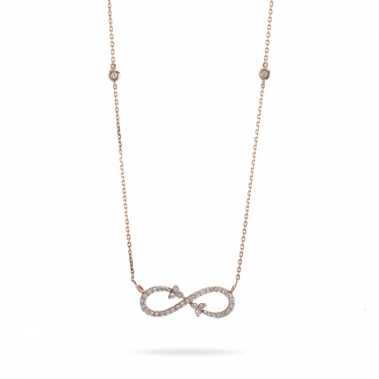 Classic Infinity Diamond Necklace