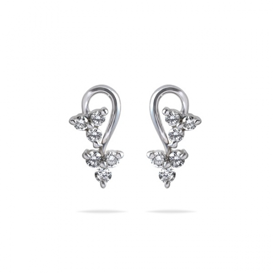 Attractive tiny dangling style diamond earring