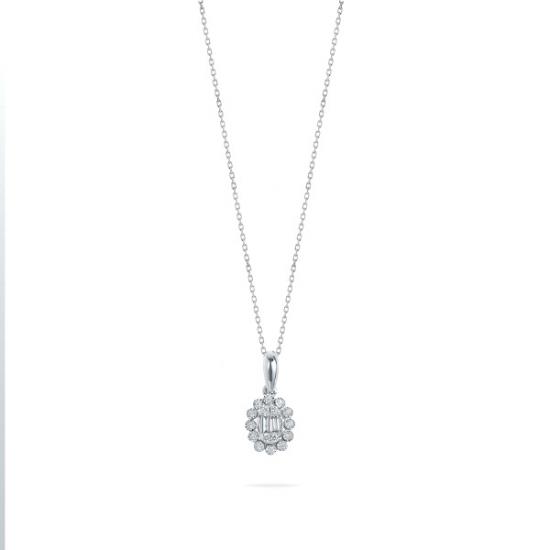 Pear Shape Cluster Diamond Pendant