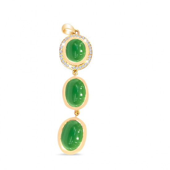 Green Onyx Diamond Pendant