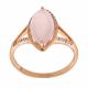 Diamond with Rose Quartz Ring