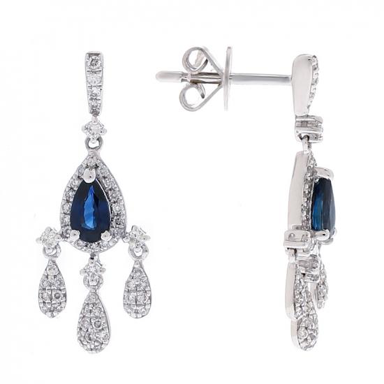 Diamond with Sapphire Earring
