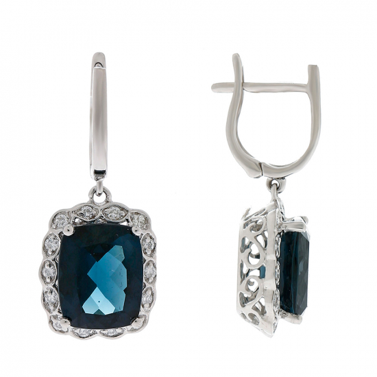 London Blue Topaz Earring