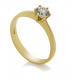 6 Prongs single Diamond Ring