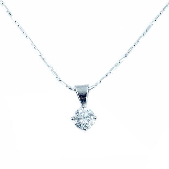 4 Claw Single Diamond Pendant