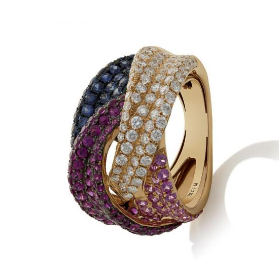 Aquatic Three-Tone Ring