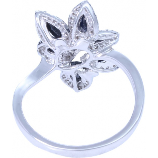 Rising Sapphire Diamond Ring