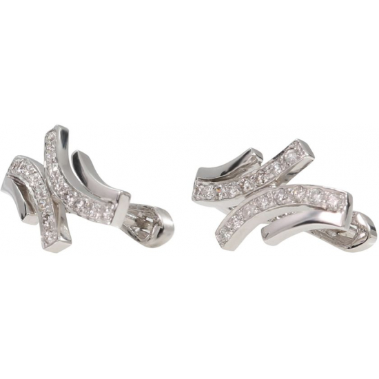 Conjunction Diamond Earrings