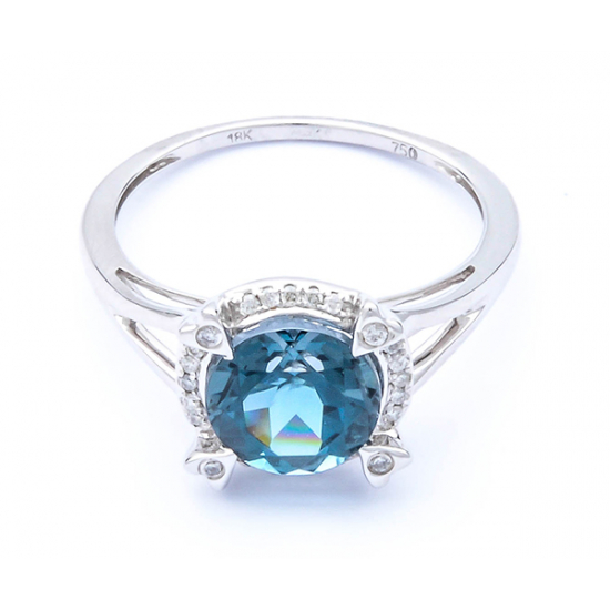 """London's Blue"" Ring-B15235"