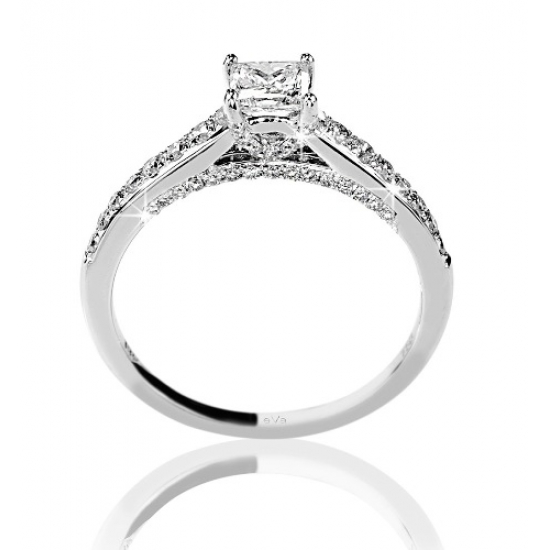 Princess Micro Engagement Ring - B08892