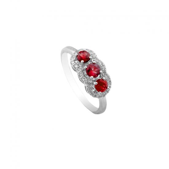Ruby Trilogy Ring