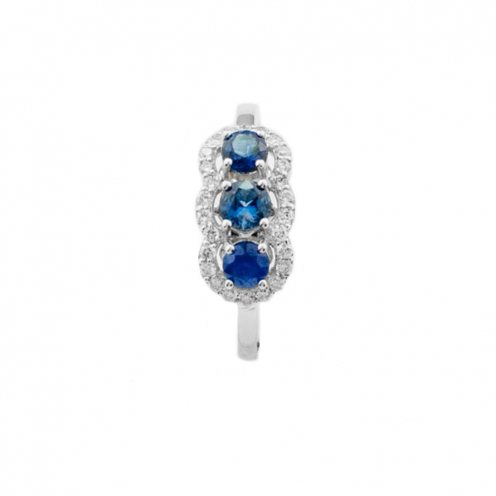 Sapphire Trilogy Ring