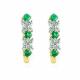 Emerald and Diamond Floating Hoop Earrings