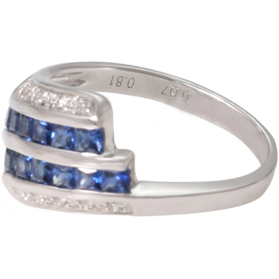 Season of sapphire Diamond RIng