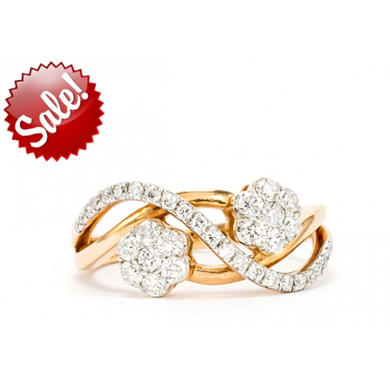 Twisted Flower Diamond Ring - B11353