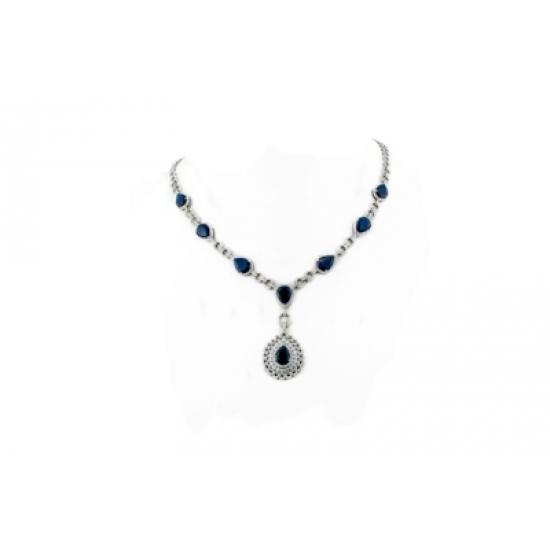 Sapphire Drops Necklace