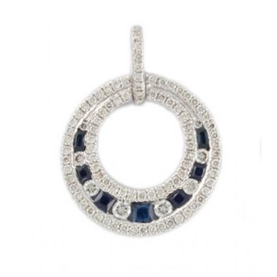 Full Moon Sapphire Pendant-B12335