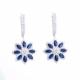 Sapphire Diamond Earrings Floral