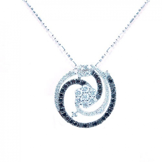 Black & White Diamond Design Pendant