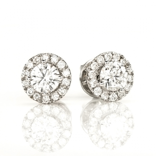 Round Cluster Earrings - B13368
