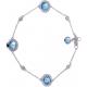 Blue Topaz Diamond Bracelet