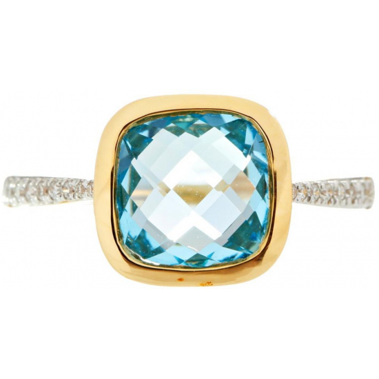 """Paradise in Blue"" Diamond Ring"