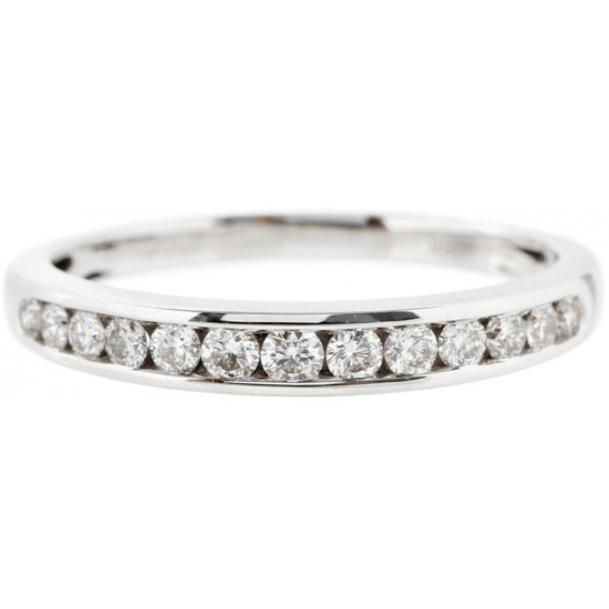 Channel Setting Half Eternity Diamond wedding Band