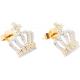 Cross Crown Diamond Earrings