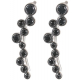 Eva Women's 18K White Gold 0.26ct Black Diamond Earrings