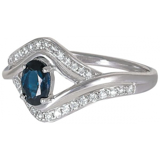 Blue Senorita Diamond Ring