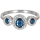 Triple Blue Sapphire Ring