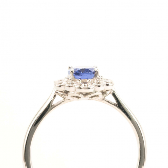 Oval Tanzanite Diamond Ring - B14669