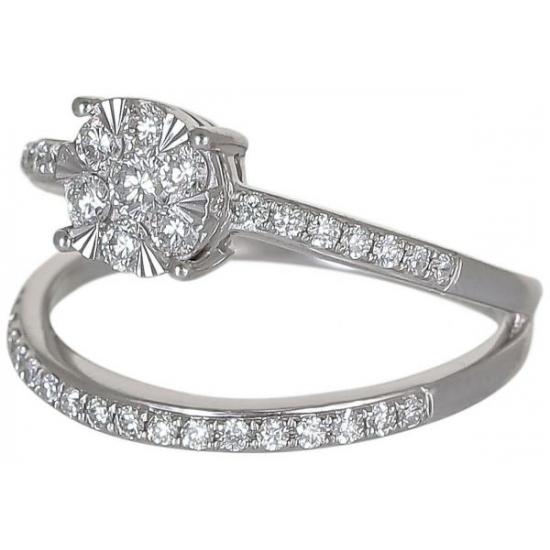 Dual couple diamond ring-B14696