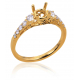 Express your love for Diamonds with Twin Yellow Gold Ring B15102