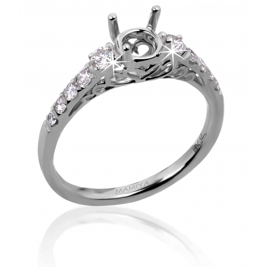 Choose your Diamond for Gorgeous White Gold Twin Engagement Ring B14701