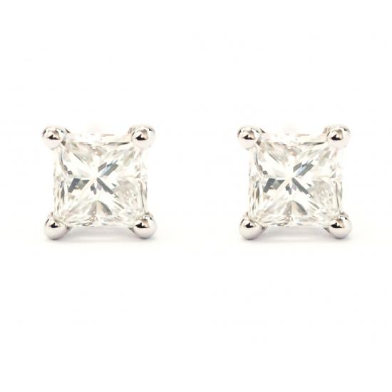 Princess Cut Diamond Earrings - B15563