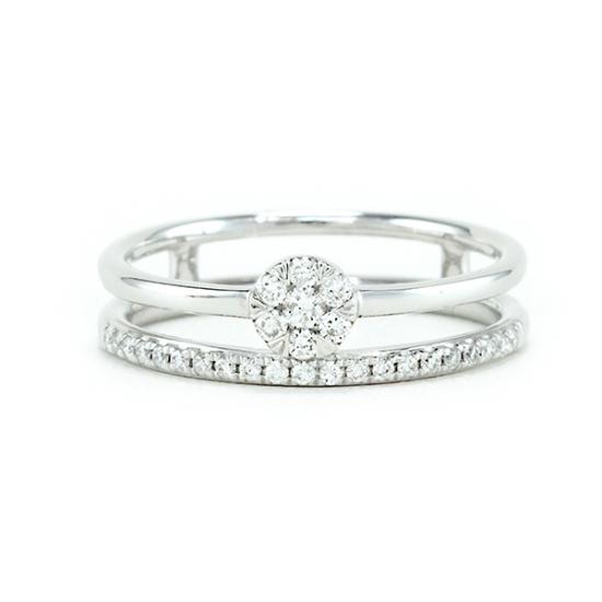 Dual Diamond Ring - B17771
