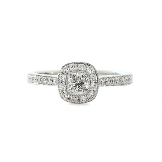 Antique Finish Diamond Ring