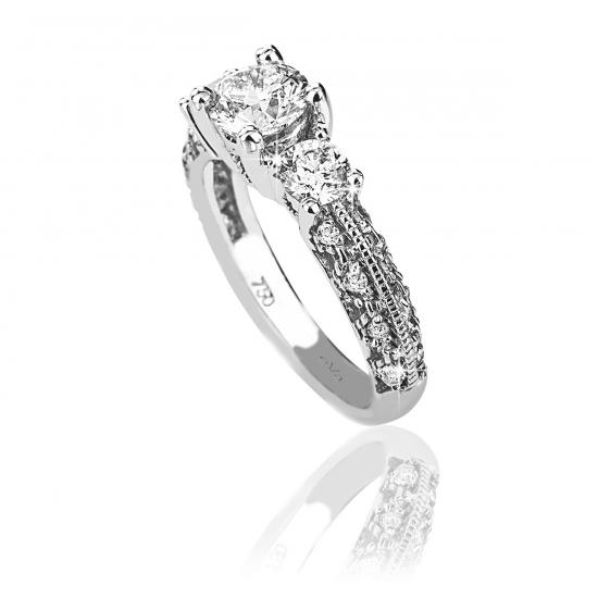 Vintage Style diamond ring CAD121
