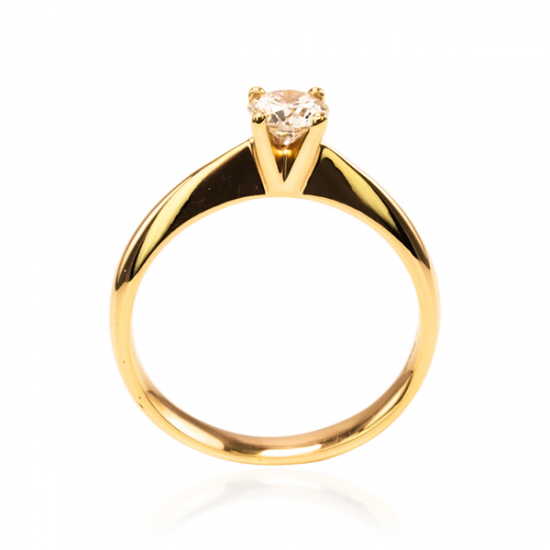 0.41 carat Rosy Solitaire Ring - CCC032