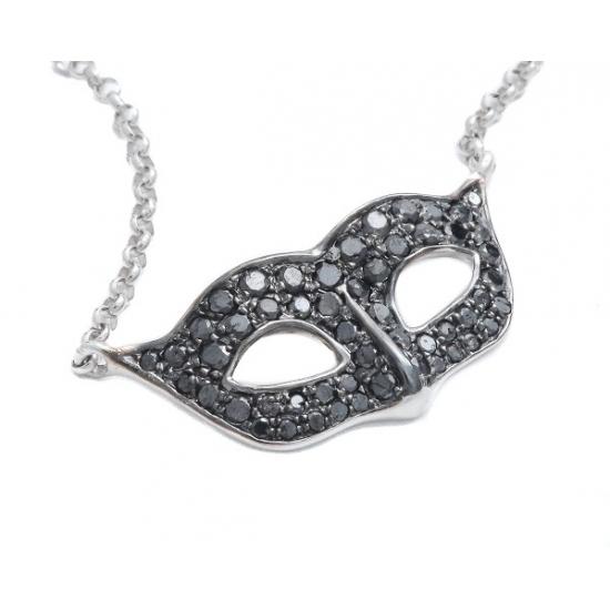 Black Diamond Mask Necklace