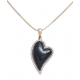 Diamond and Onyx Heart with Chain