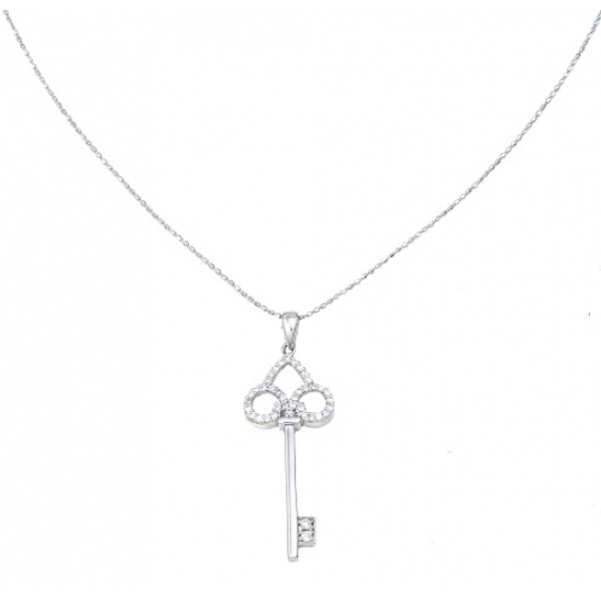 Key to Heart Pendant II with Chain