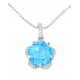 Star Blue Topaz Pendant with Chain