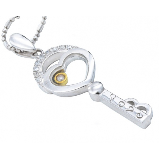 Trapped in Heart Pendant with Chain